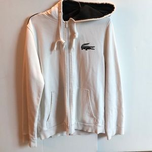 LaCoste Sport White Hoodie